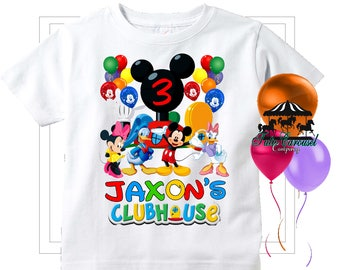 c122c97d 50% Off Mickey Mouse Clubhouse Birthday Shirt, Personalized Shirt, (mc200)