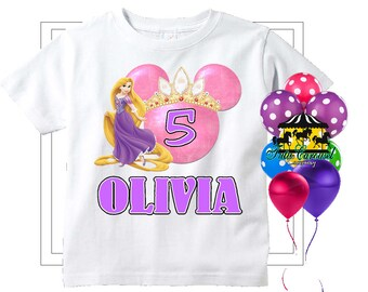 50 Off Rapunzel Birthday Shirt Personalized Mc167