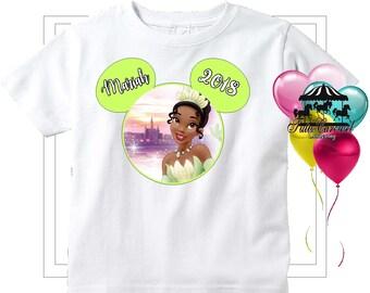 5108988bfd8 50% Off Tiana Princess Frog Disney Vacation Shirt