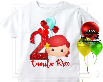 Little Mermaid Birthday Shirt Personalized Mc571