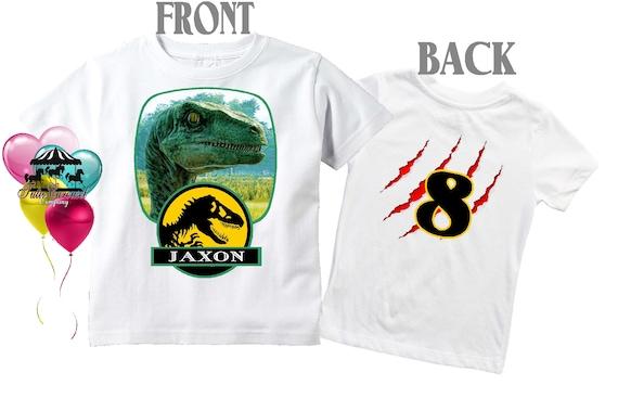 8a3ab021 50% Off Jurassic World Birthday Shirt Jurassic Park Front &   Etsy