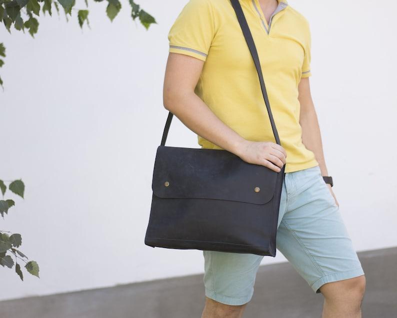 Laptop BagMens Bag Laptop Shoulder Bag Small Messenger Bag Mens Satchel Brief Case