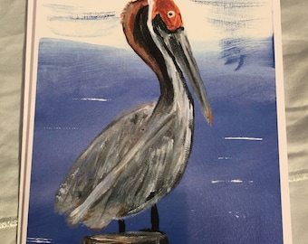 Note Card Pelican