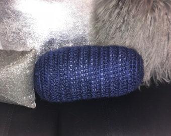Decorative Bolster Pillow // handmade // hand crocheted