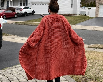 CROCHET PATTERN ONLY Lazy Days Chunky Ankle Duster