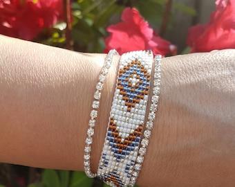 Miyuki bracelet, cup chain bracelet, seed beads bracelet, handmade bracelet