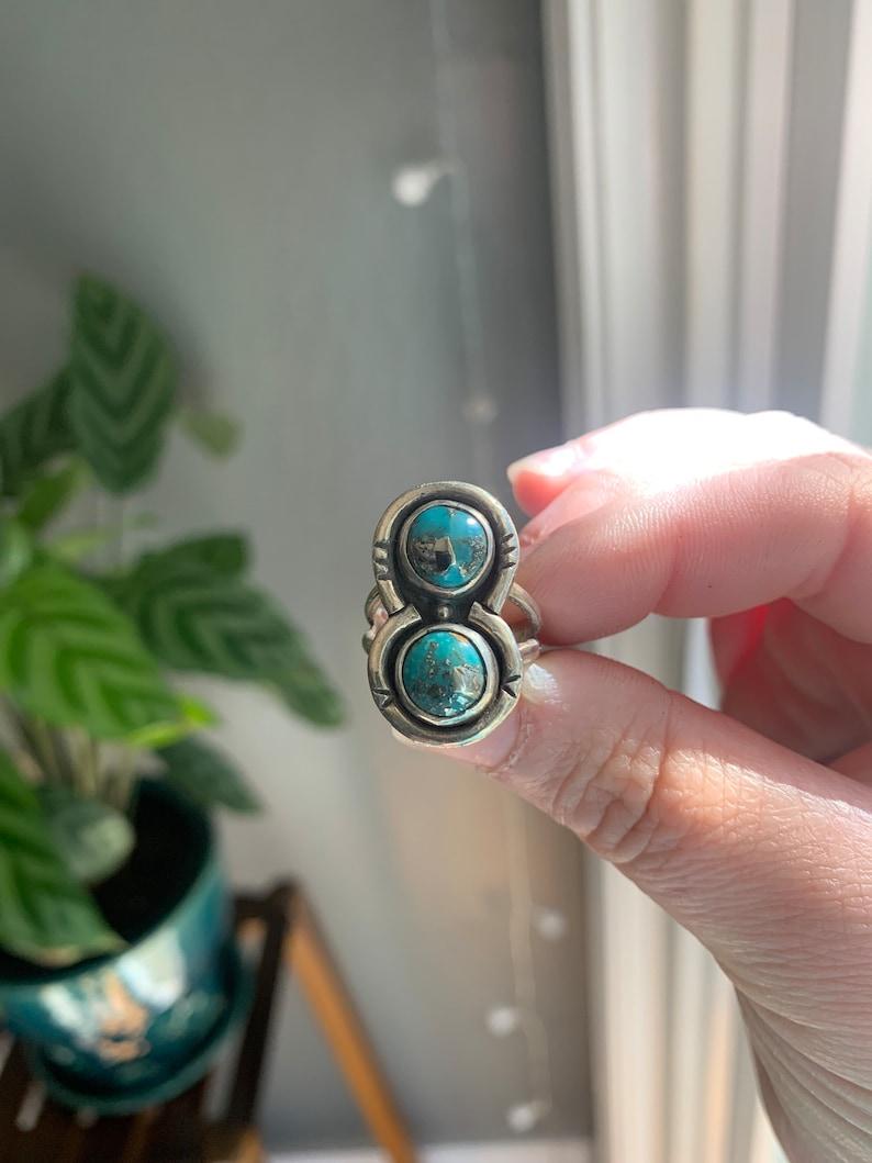 Natural Morenci2 Turquoise Ring size 5.75