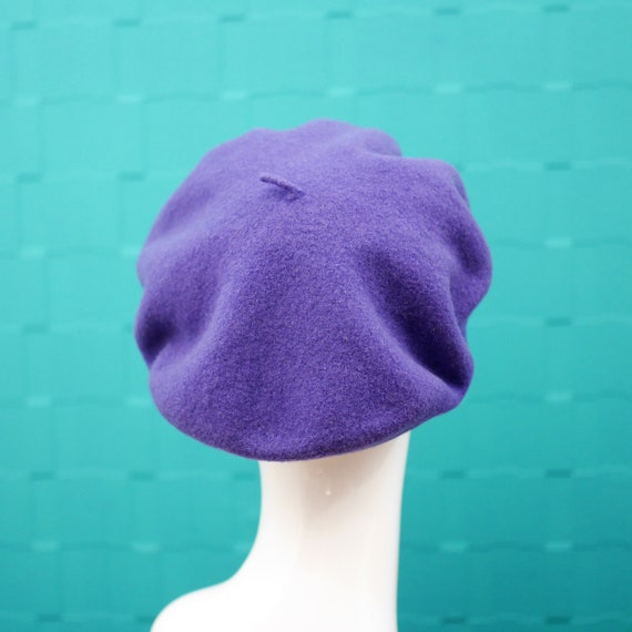 Vintage Kangol Purple Beret Hat 100% Wool Made in United  b86fb66e953