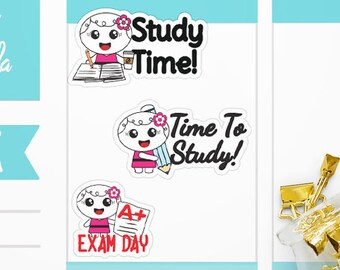 Roxie Exam Stickers - Study Stickers - College Stickers Study - Planner Stickers - School Stickers  - Exam Day - Study Time Stickers