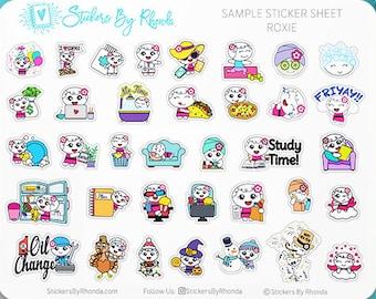 Roxie Planner Stickers - Sampler Sticker Sheet Roxie