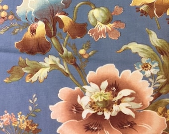 Antique French Botanical Floral Textile