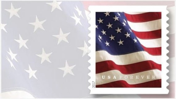 Usps Forever Stamp Flags 1 Roll 100 Stamps Etsy - United-states-forever-stamps