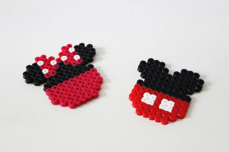Duo Mickey Et Minnie Perles Hama Pixel Art Etsy