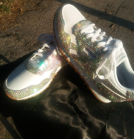 bedazzled reebok classic - 61% OFF