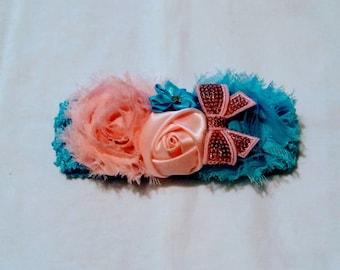 Bubble gum crochet headband