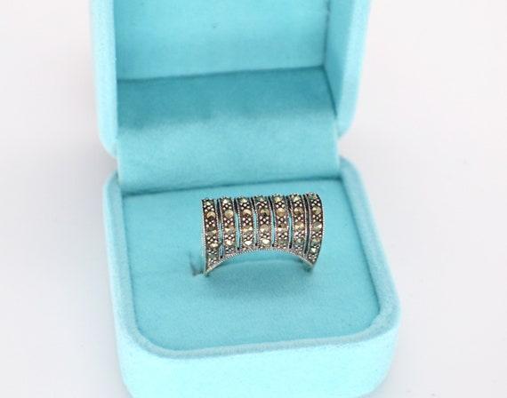 Vintage Marcasite Ring, Vintage Silver Ring, Silve