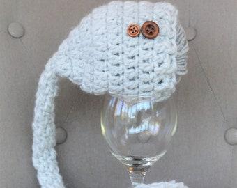 Bonnet bébé lutin crochet nouveau-né séance photo newborn baby photographie  hat cadeau naissance ce2a0b8574e