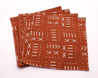 Cloth Napkins - Rust Geometric Design   Reusable and Sustainable Products for a Low Waste Lifestyle