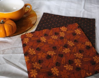 Autumn Leaves Cloth Napkins   Reusable, Sustainable Goods for Low Waste Living