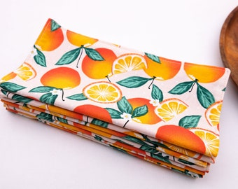 Oranges on Pink - Cloth Napkins   Reusable and Sustainable Products for a Low Waste Lifestyle