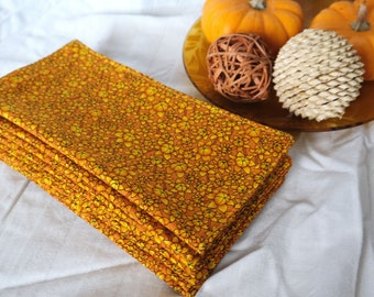 Double Sided Autumnal Pumpkin Cloth Napkins   Sustainable Autumn for Low Waste Living