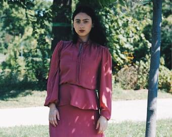 Vintage Peplum Blush Gown