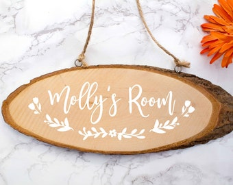 Wooden Name Sign Home Decor Hanging Bedroom Door With Personalised
