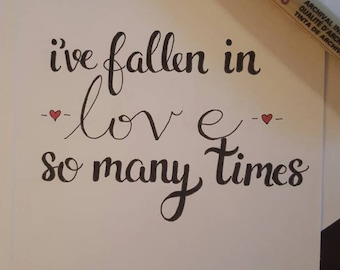 "Love romantic valentine's card ""I've fallen in love so many times. Always with you"" husband wife boyfriend girlfriend"