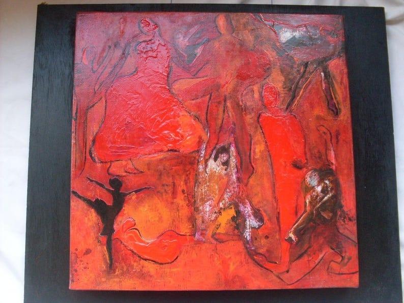 Peinture Moderne Danse Classique Jazz Contemporain Etsy