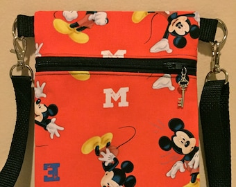 Mickey Cross body Bag/Mickey Shoulder Bag/small/gift/disney crossbody bag/small cross body bag/cross body bags/crossbody bag
