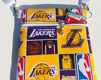 Los Angeles Lakers LA Lakers purse handbag small crossbody bag Basketball Small Purse/Bag/Handbag/ small cross body bag/crossbody bags