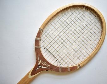 Vintage Tad Davis Professional Wood Tennis Racquet Racket   Made in USA Sports Office Bar Pub Cave   Unique Wall Decor   Boys Nursery Art
