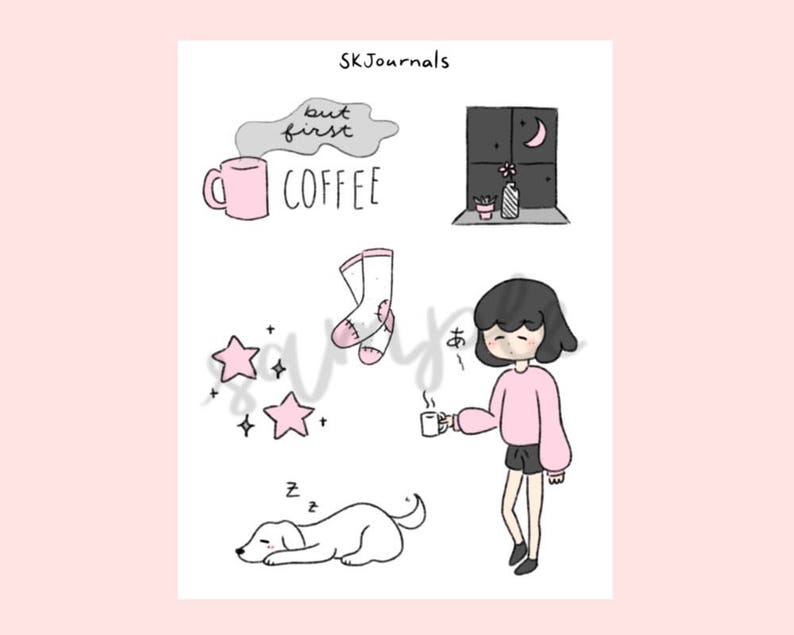 Aesthetic Stickers For Bullet Journals And Planners