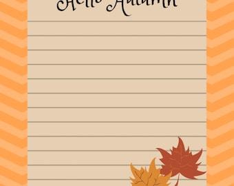 autumn stationery etsy