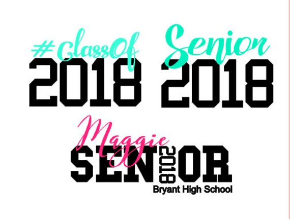 Class of 2018 sticker or do it yourself iron on senior solutioingenieria Image collections
