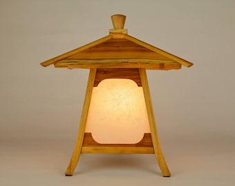 "Japanese Lamp / Lantern In English Yew Wood -""Kodama"" (Forest Spirit)"