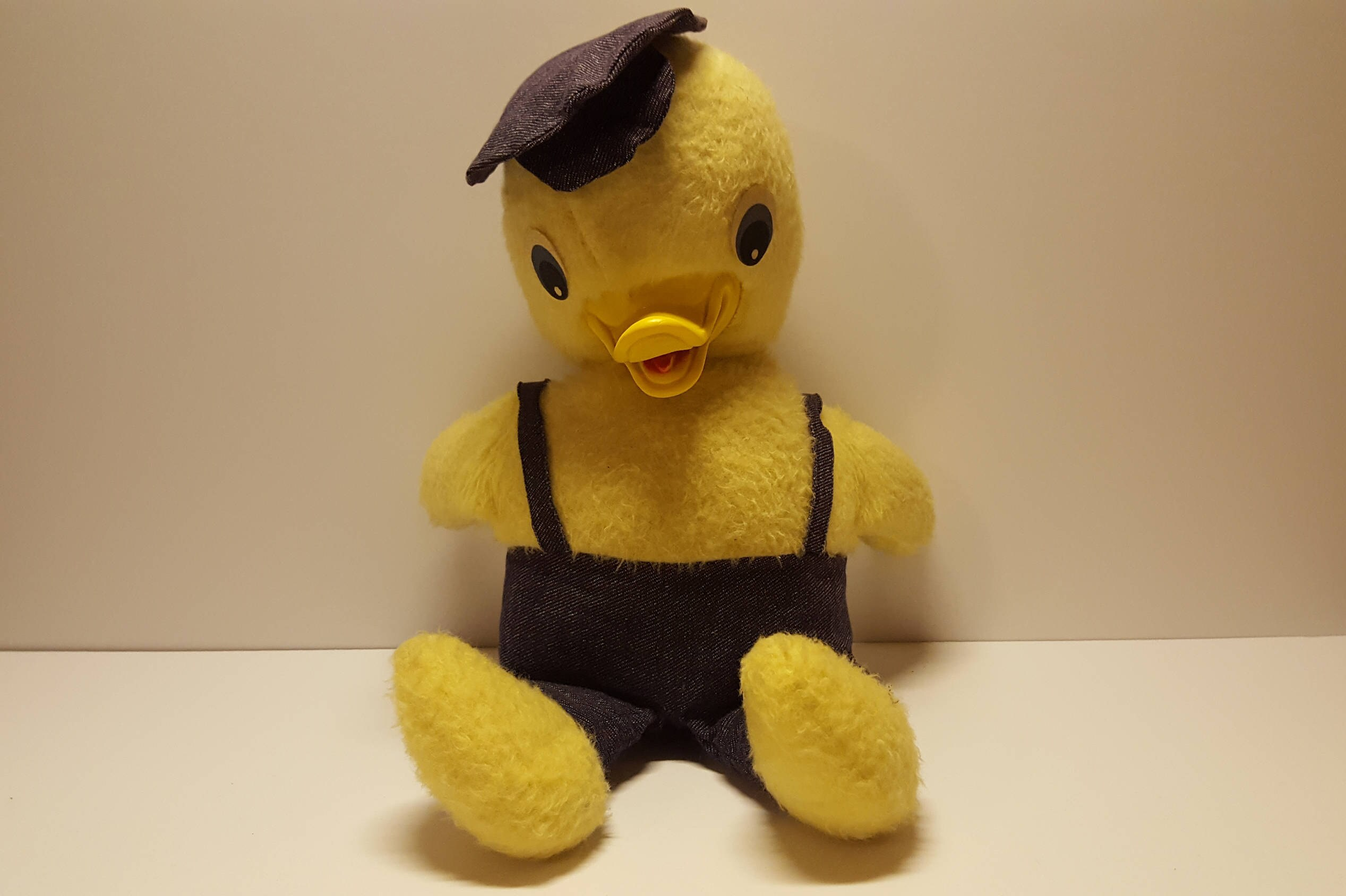 Vintage Commonwealth Yellow Duck Plush Rubber Beak With