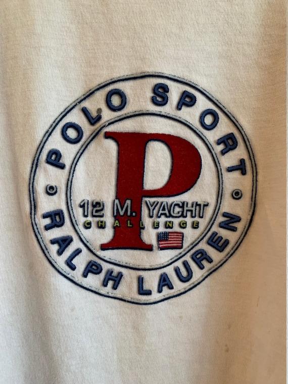 Vintage 90's Polo Sport felt print 12 M. YACHT CHA