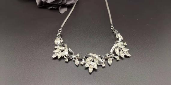 Vintage Coro diamonated necklace cira 1950