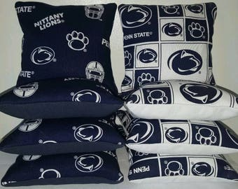 Set Of 8 Penn State Cornhole Bean Bags Top Quality FREE SHIPPING