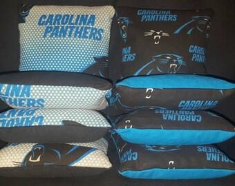 Top Quality Carolina Panthers Cornhole Bags FREE Shipping
