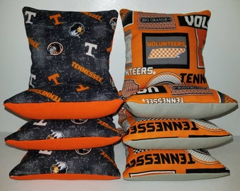 Set Of 8 University of Tennessee Cornhole Bean Bags Top Quality FREE SHIPPING