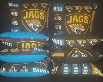 Set of 8 Jacksonville Jaguars Jags Cornhole Bean Bags Top Quality FREE SHIPPING