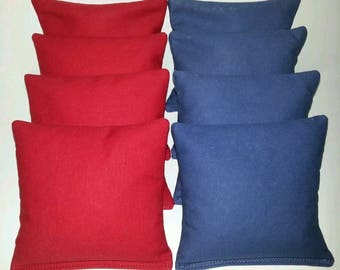 Set Of 8 Red and Royal Cornhole Bean Bags Top Quality FREE SHIPPING