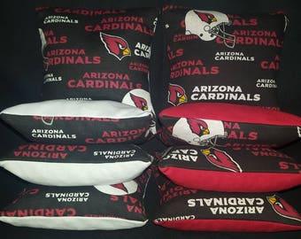 Set Of 8 Arizona Cardinals Cornhole Bean Bags Top Quality FREE SHIPPING