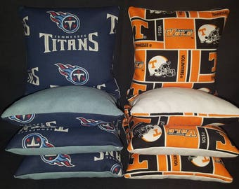 Set Of 8 Tennessee Titans Vols Cornhole Bean Bags Top Quality FREE SHIPPING