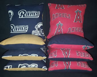 Set of 8 Rams Angels Cornhole Bean Bags Top Quality FREE SHIPPING