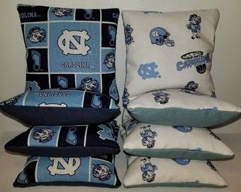 Set Of 8 Carolina Panthers Charlotte Hornets Cornhole Bean Bags FREE SHIPPING