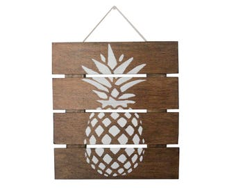 Wooden Pineapple Sign, Pineapple Decor, Wooden Pallet Sign, Pineapple Wall Hanging