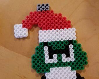 Santa Goomba Ornament Perler
